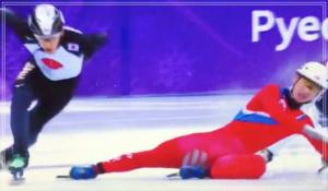 ショートトラック男子、北朝鮮の選手、渡邊啓太