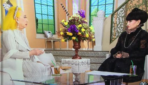 徹子の部屋で美輪明宏と魔女対談!セットと同化していて美しい…!