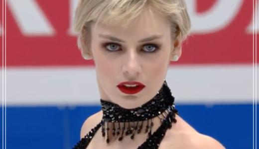 フィギュア女子のオストマン、世界選手権も美人すぎてかっこいい【画像】